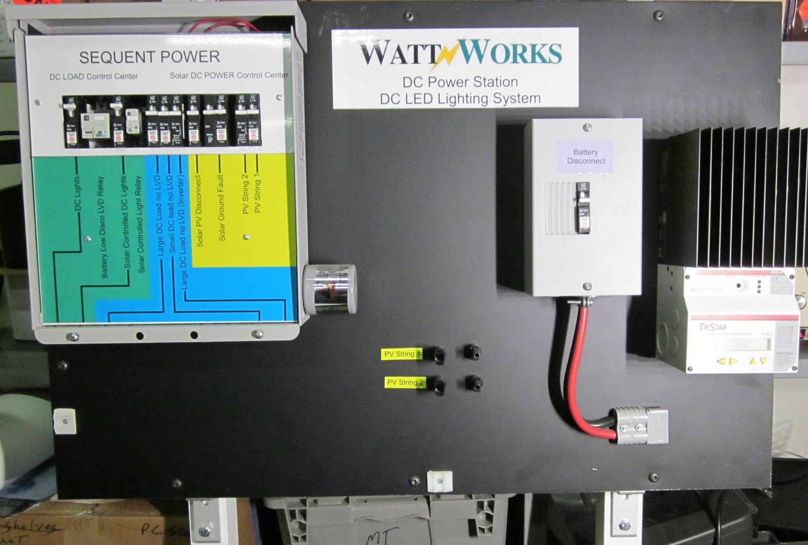 2000 Sq Ft Off Grid Lighting System With Solar Power Station Wattworks Panel String Wiring Pv Panels